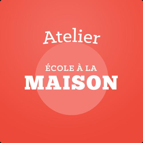 Image de ECOLE A LA MAISON: vendredis de 14:00 à 15:30